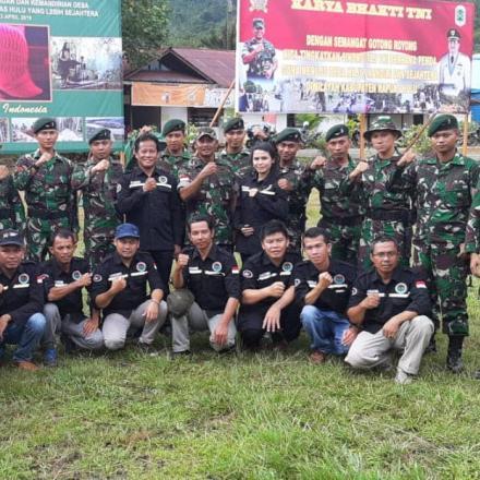 BBGRM ke -16 dan karya bakti TNI guna peningkatan partisipasi masyarakat menuju kapuas hulu yang leb